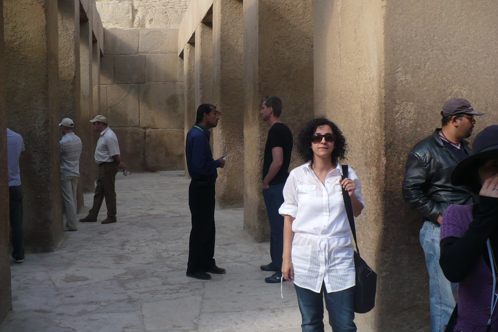 Mom and the ruins