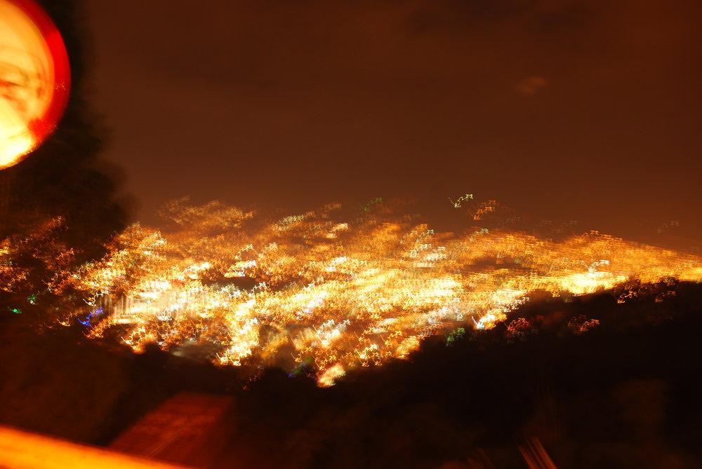 Medellín at night