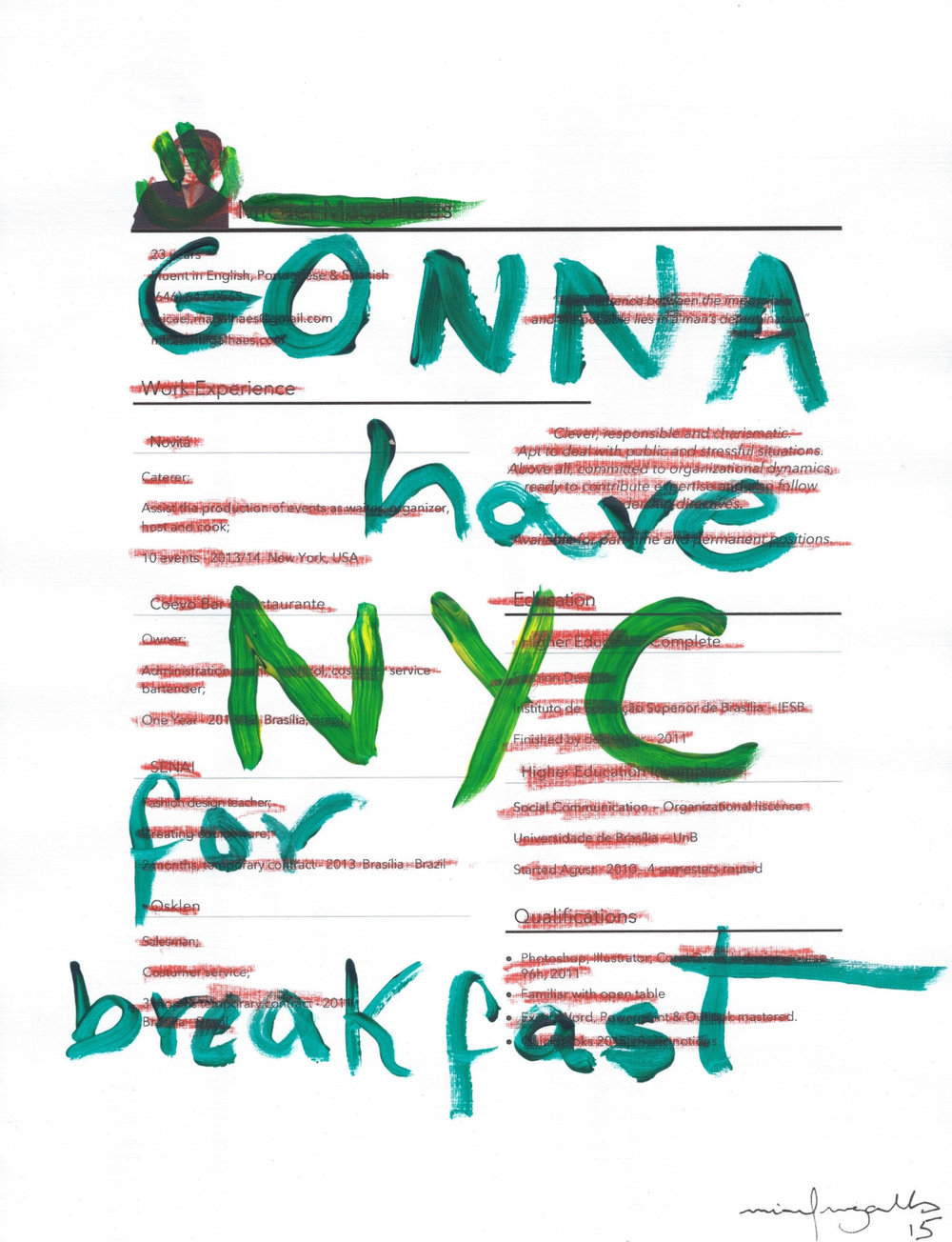 Gonna Have NYC for breakfast