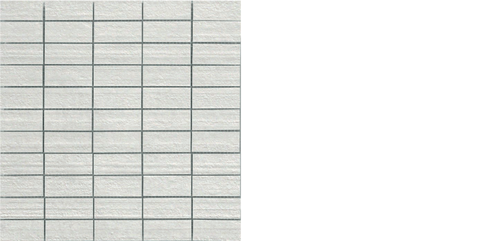 "Cemento bianco - white -mosaic 12"" x 12"""
