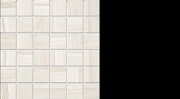 """elegante 2"""" x 2"""" mosaic on 13"""" x 13"""" sheet natural white"""