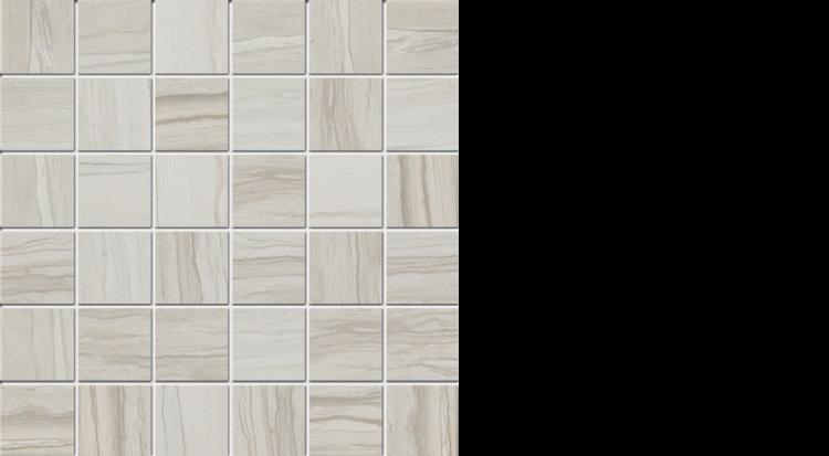 """elegante 2"""" x 2"""" mosaic on 13"""" x 13"""" sheet natural greige"""