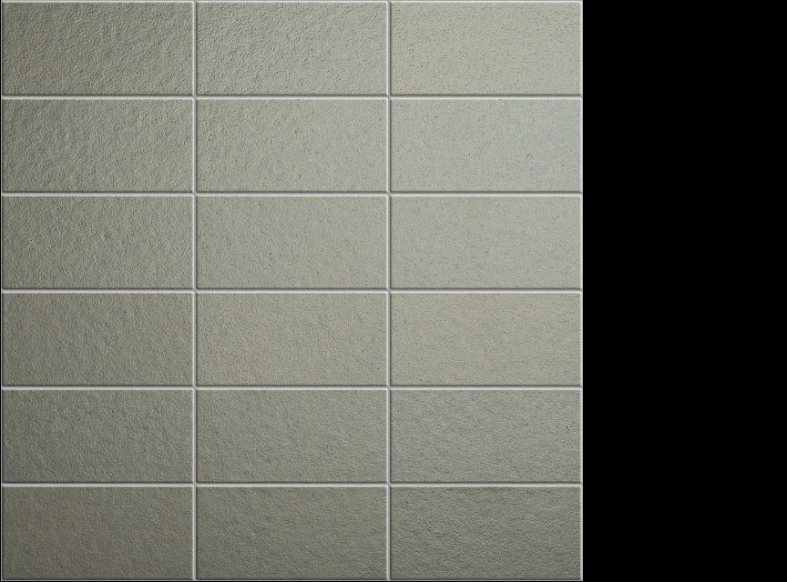 """appiani metallica alluminio 2"""" x 4"""" on 12"""" x 12"""" sheet - grey"""