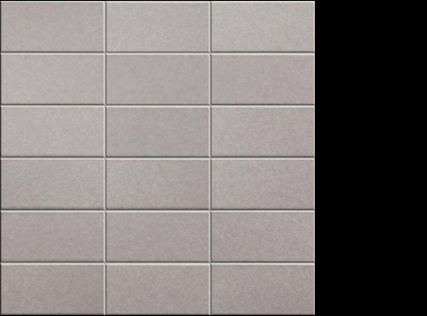 """Appiani Anthologia Clematilede grey - 2"""" x 4"""" mosaic on 11.75"""" x 11.75"""" sheet"""