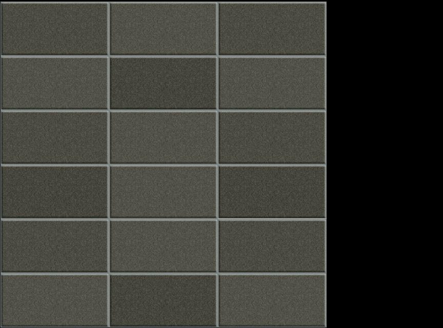 "Appiani Anthologia plumbargo brown - 2"" x 4"" mosaic on 11.75"" x 11.75"" sheet"