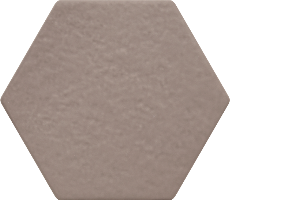 "extro porcelain hexagon tile - 6"" x 6.75"" cemento"