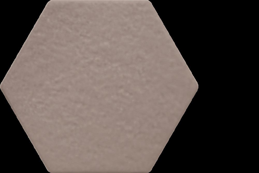 """extro porcelain hexagon tile - 6"""" x 6.75"""" cemento"""