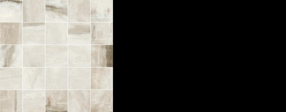 "Pearl porcelain floor tile White, Silver 2.5"" x 2.5"" mosaic on 12 x 12 sheet"