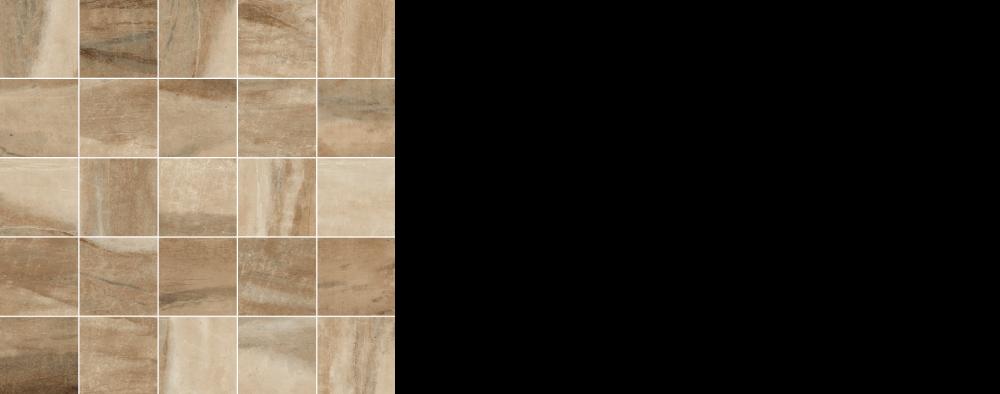 "Pearl porcelain floor tile camel, brown 2.5"" x 2.5"" mosaic on 12 x 12 sheet"