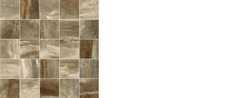 """Pearl porcelain floor tile forest, brown 2.5"""" x 2.5"""" mosaic on 12 x 12 sheet"""