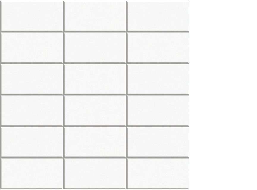 "appiani anthologia calla 2"" x 4"" mosaic floor porcelain tile white"