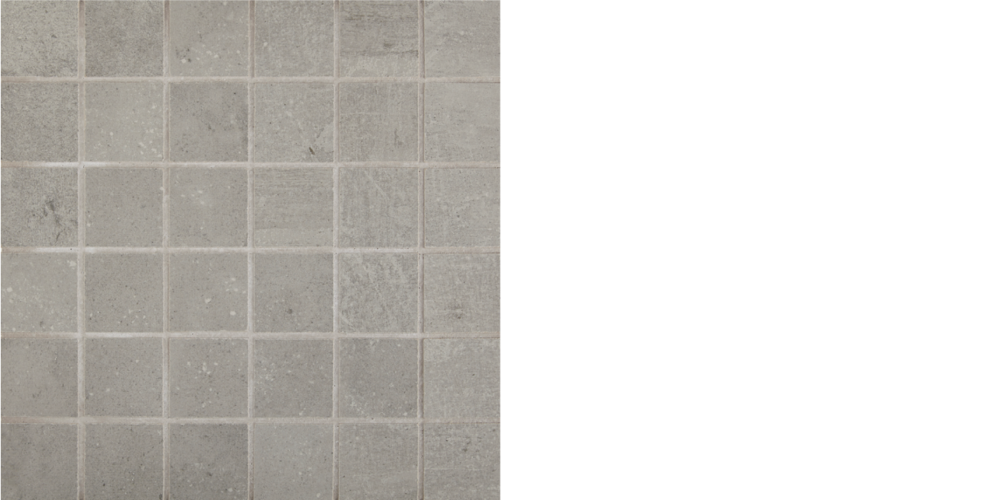 "Find porcelain tile, 2"" x 2"" mosaic Ash, Grey"