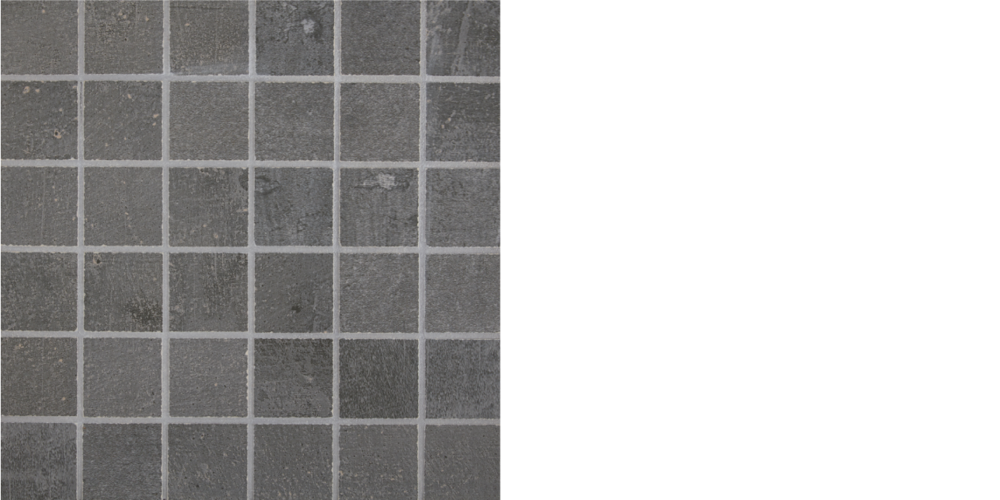 "Find porcelain tile, 2"" x 2"" mosaic steel, Grey"