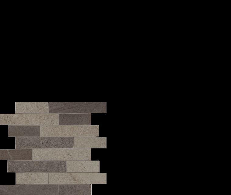 pietra italia porcelain tile black/grey stacked