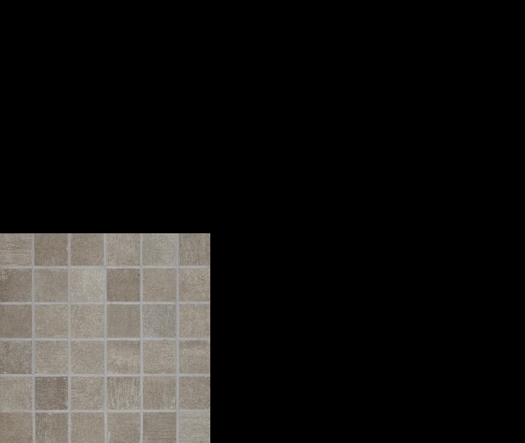 "reside, 2"" x 2"" mosaic porcelain tile ash"
