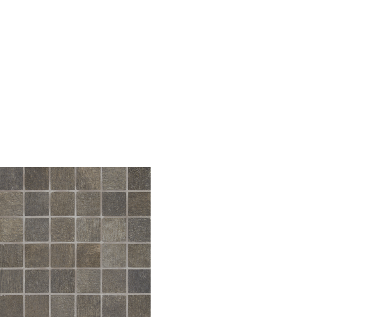 "reside, 2"" x 2"" mosaic porcelain tile black"