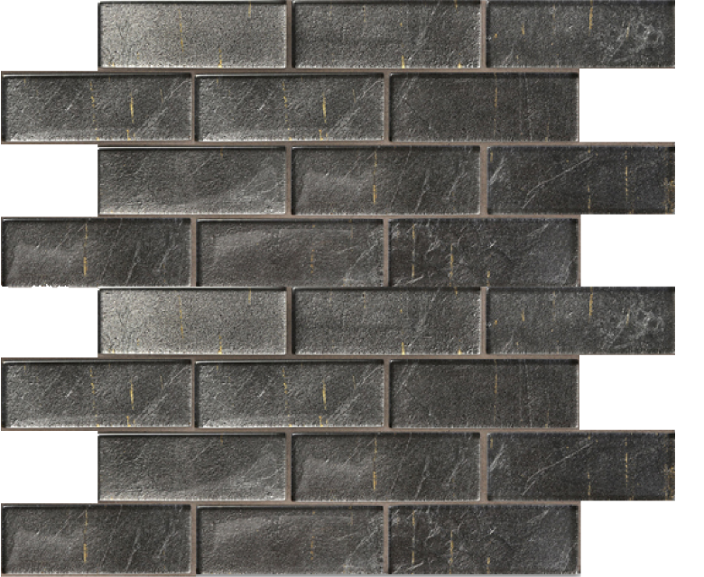 folia glass mosaic, athrium, grey