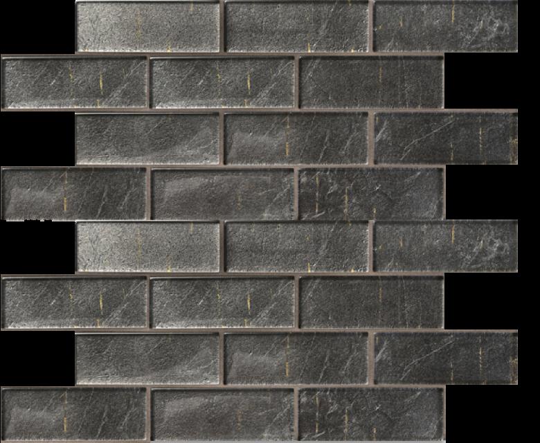 folia glass mosaic, athrium, grey