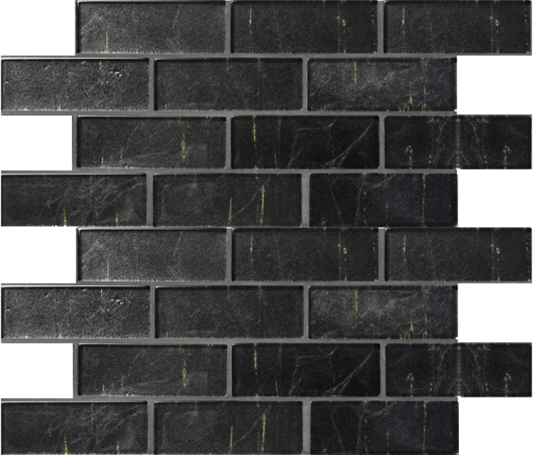 folia glass mosaic, eringyum black