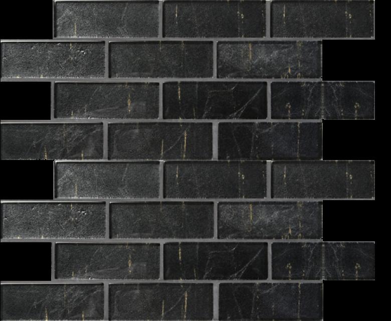 folia glass mosaic, eringyum black