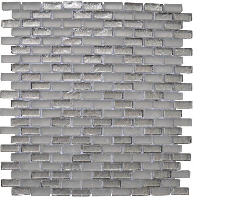 "Chicago, glass mosaics, taupe - 12"" x 12"" - brick"