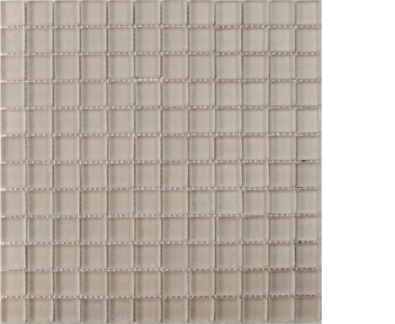 earth clay beige mosaic 1 x 1 on 12 x 12 glass