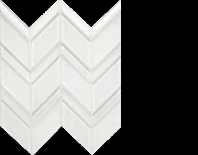 islandia glass chevron white