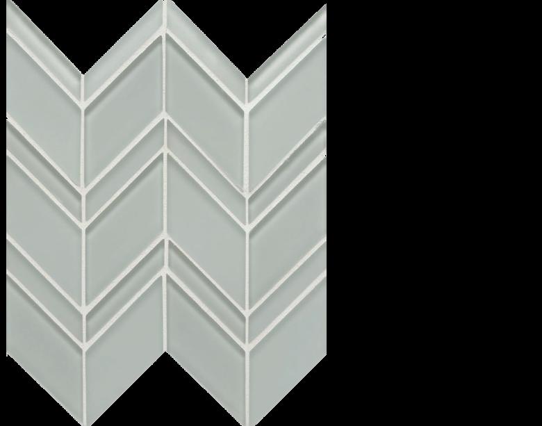 island glass mosaic caicos chevron