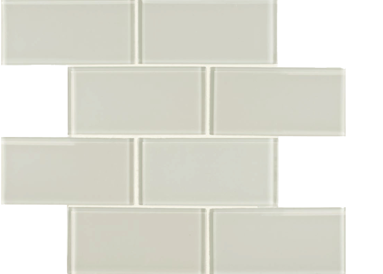skylights glass mosaic fog, cream