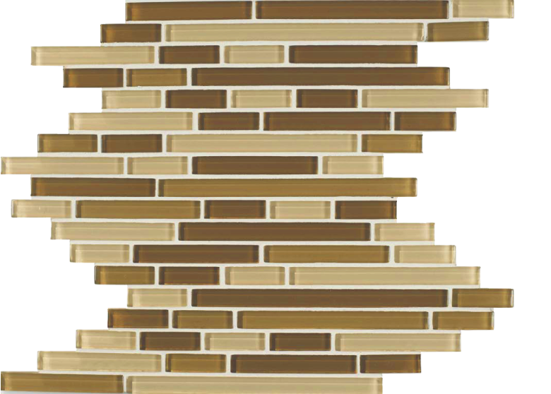 skylights glass mosaic beige stack