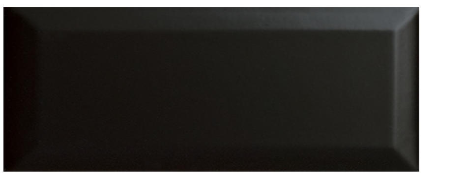 "subway, wall ceramic tile, 3"" x 6"" bevel black"