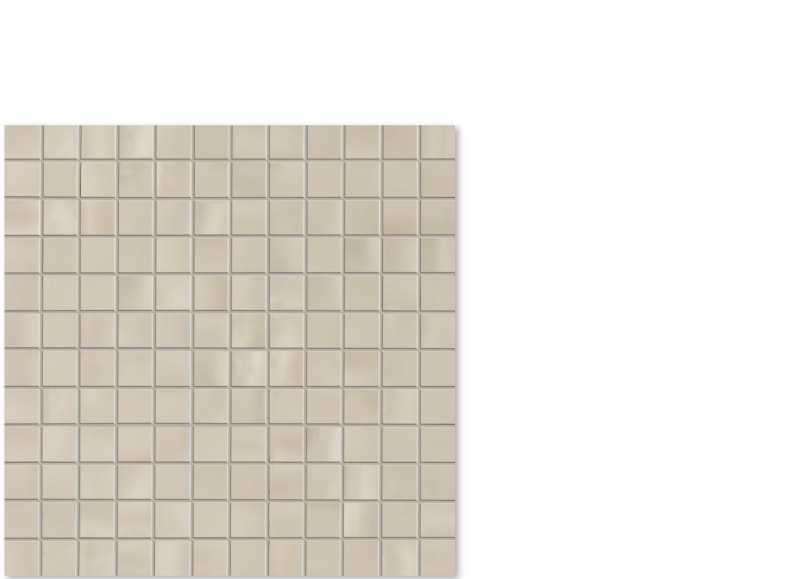 "aria taupe ceramic wall tile, 1"" x 1"" mosaic on 12"" x 12"""