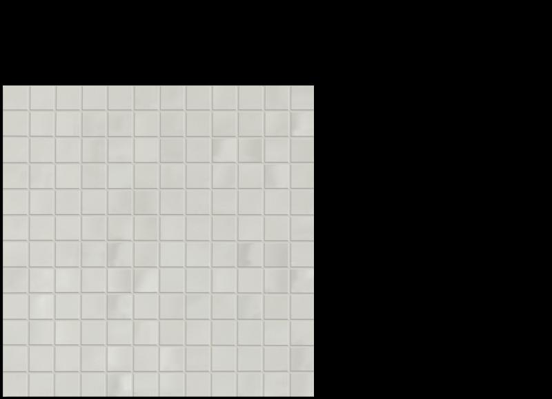 "Aria ceramic wall tile bone cram 1""x 1"" on 12"" x 12"" sheet"