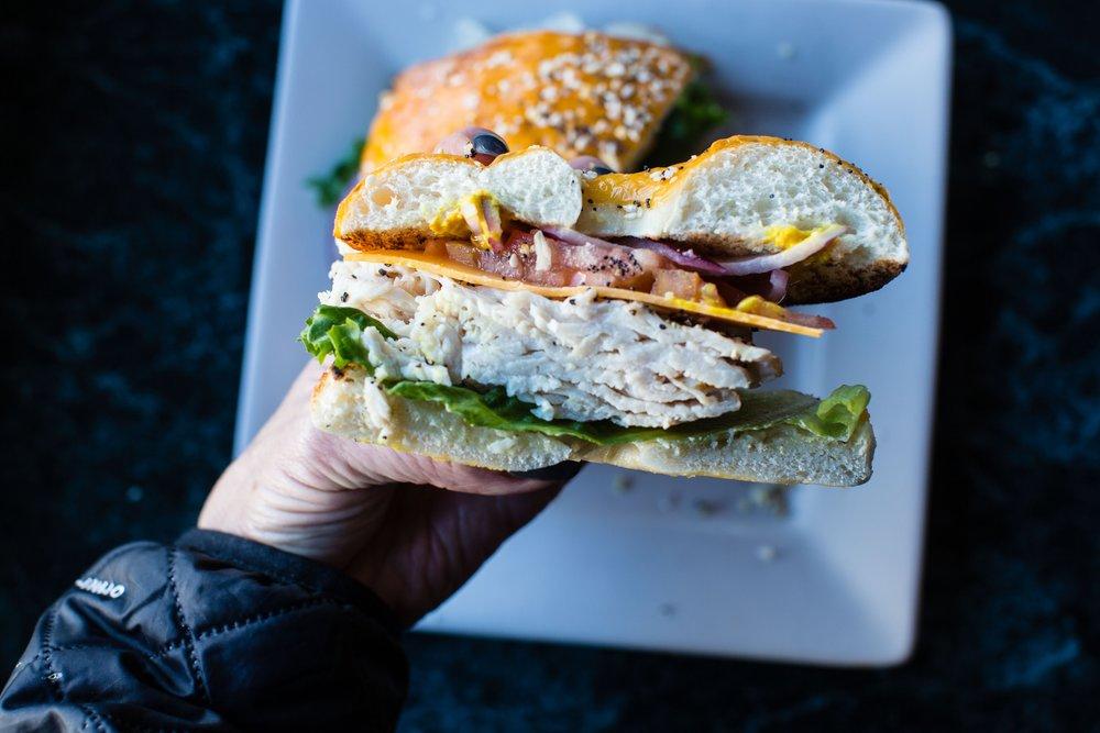 Turkey Sunrise Bagel Sandwich