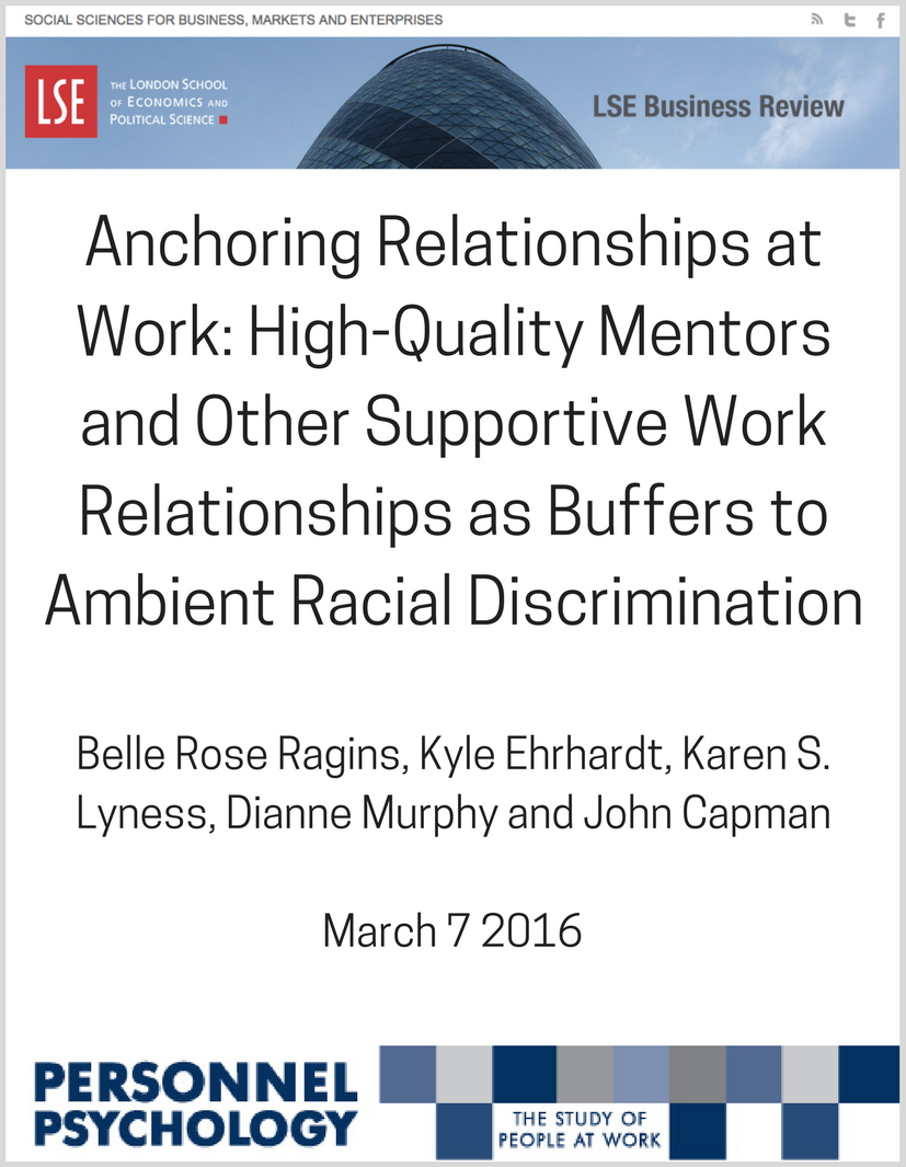 Like second-hand smoke, racial discrimination at work can affect bystandersBut good mentors can buffer employees from the negative effects of workplace racism, write Belle Rose Ragins, Kyle Ehrhardt, Karen S. Lyness, (2).png