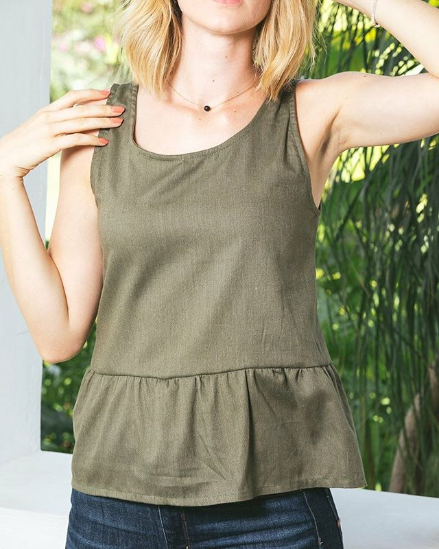 Celebrate Spring with our new Rose Esterline Top. This top features a trendy ruffled bottom and a gold button closure in the back.  This cotton blend top is light + comfortable, and will surely become one of your new favorites. • • • • #giftofhopehaiti #jobcreation #orphanprevention #purchasewithpurpose #empowermothers #preventorphans