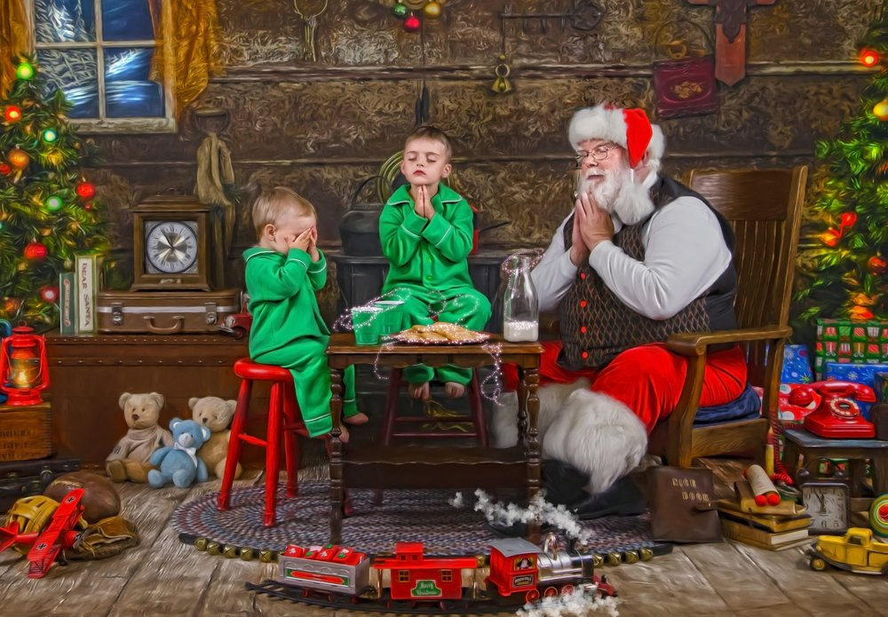 Santa's Storybook Workshop - They give thanks for the true reason for the season