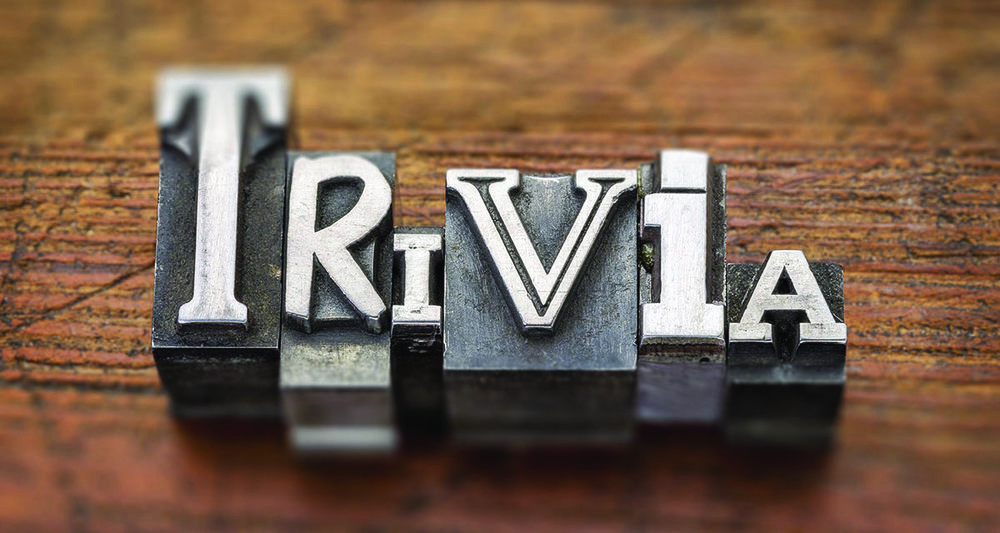Copy of trivia word in metal type