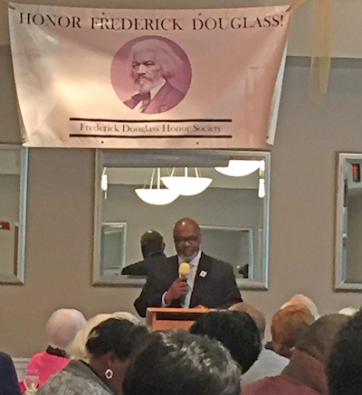 The Rev. Clarence A. Wayman was guest speaker at the Frederick Douglass Prayer Breakfast in Easton last Saturday, attended by almost 200 people from the TalbotCounty community.Talbot Rising is among more than 40 local groups helping plan local events in honor of Douglass' 200th birthday.