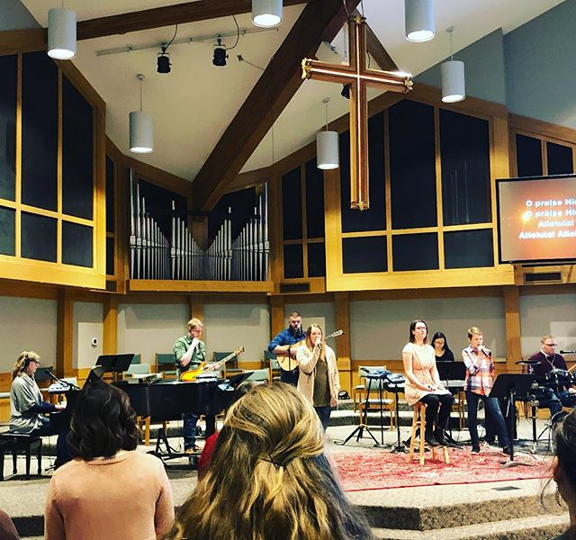 Thankful to be led in worship yesterday by some of our youth!!