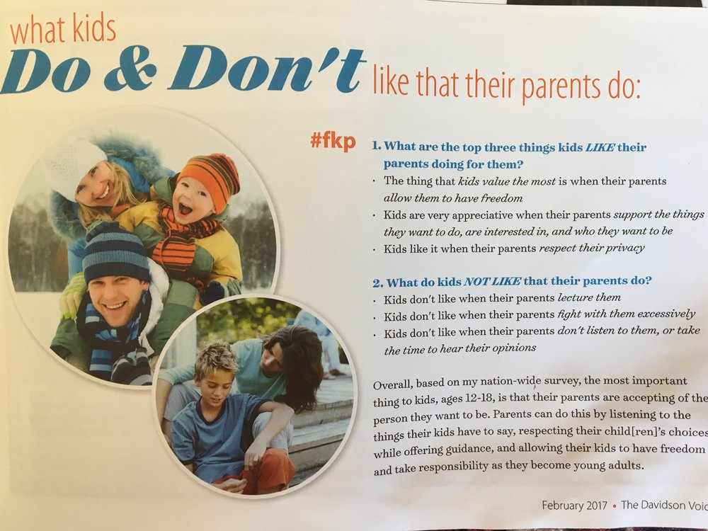 Parent Dos & Don'ts