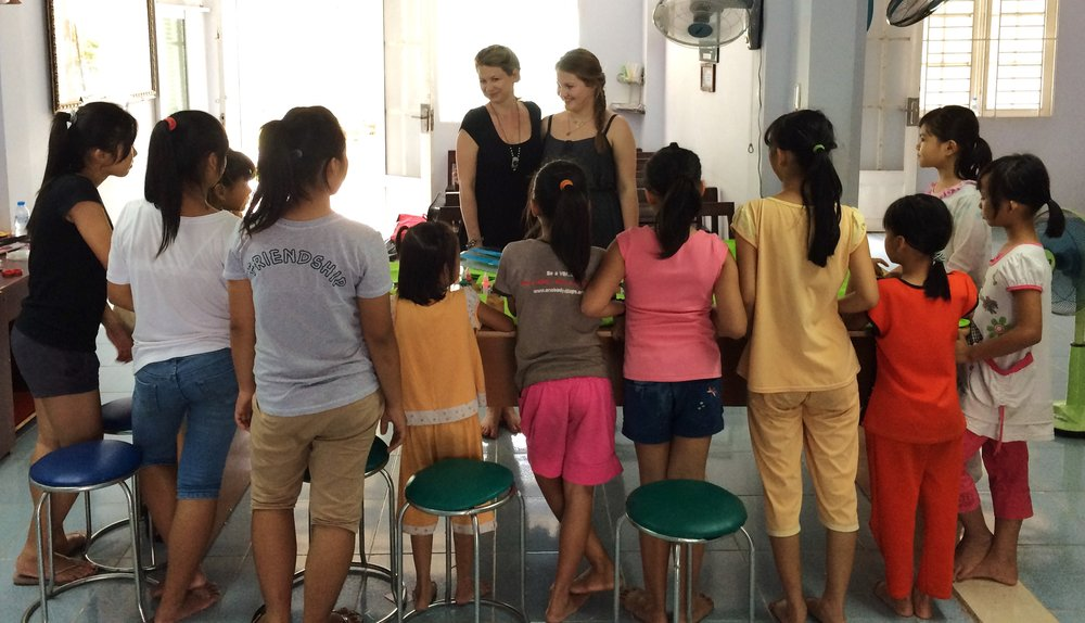 Me in Vietnam at the One Body Village safe house. Girls are in hiding so their faces cannot be shown.