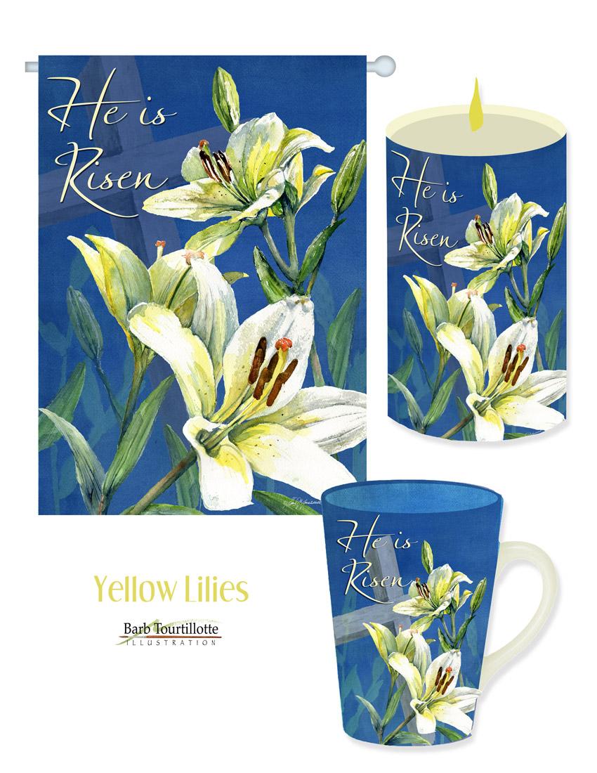 Yellow lilies with cross.jpg
