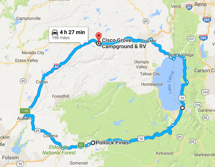 ROUTE PREVIEW - ELDORADO — Sierra Stake Out