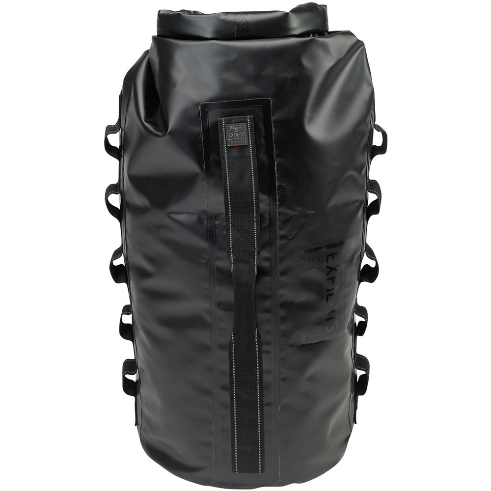 This waterproof roll top bag holds up to 115 of your favorite 12oz beverages or everything you need to set up camp. It's no frills design is built to be extremely durable and keep your valuables from getting soaked in any sort of torrential downpour you may come upon. The strapping system is set up as a DIY operation. Lots of strong point to run whatever rope, tie downs, or bungees you choose to secure this unit to your freedom machine. MSRP: $149.95