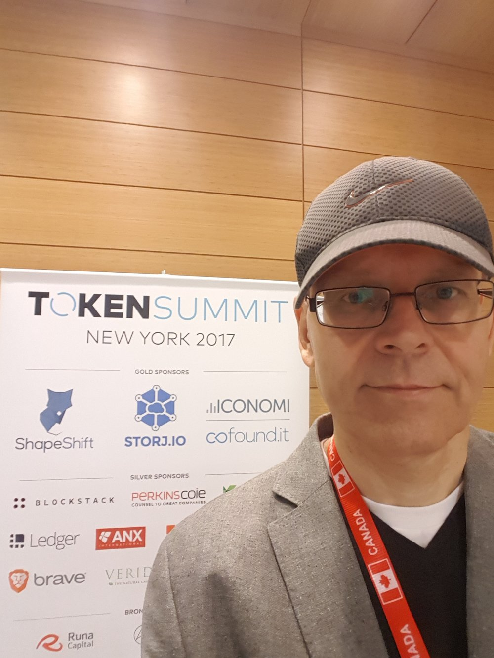 Promoting Nike hat at Token Summit :)
