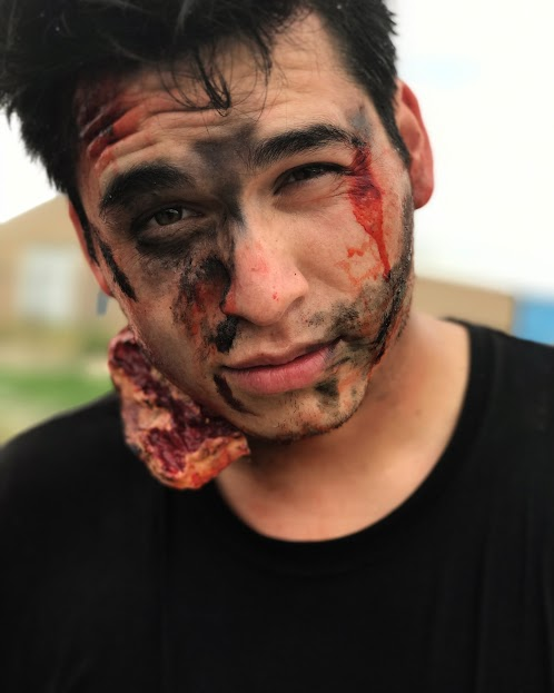 Makeup - was also integral to their film. Our camper, Beau, is a talented makeup artist who taught his peers and the mentors about cinematic makeup.