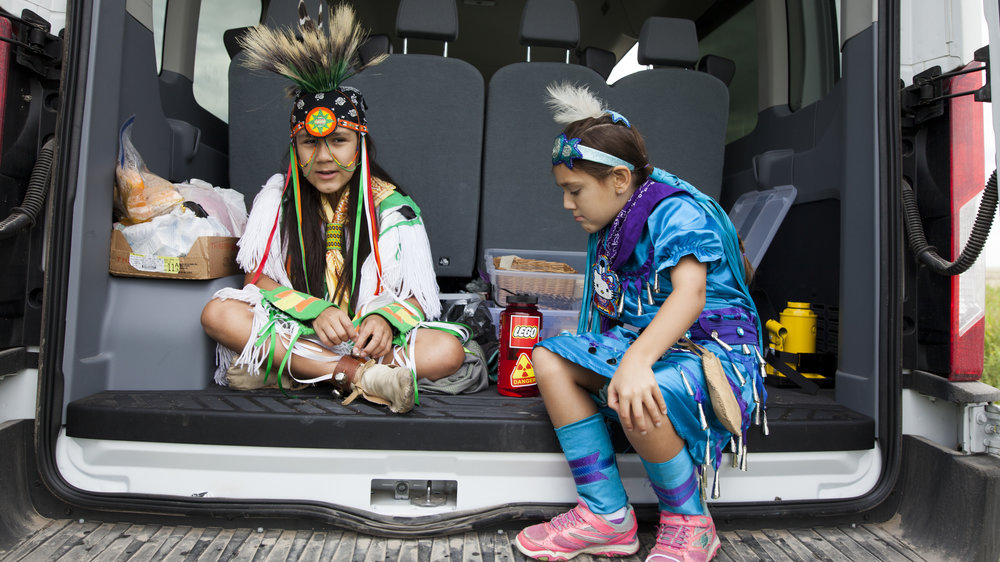 The campers designed Frank's music video to include both traditional and contemporary Lakota cultural references.