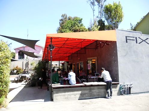 Fix Coffee  is a true neighborhood coffee spot located at the base of the hills in Echo park, off the busy main drive of Sunset Blvd. We used to live a block away and loved walking here and hanging on the patio with our pup drinking great coffee. Creative types, a.k.a everyone in LA, work from their laptops here which creates a great community vibe.