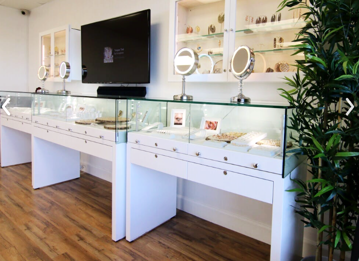 I recently discovered  Envy  while looking for a great place to get my ears pierced in the beach cities. I was expecting a typical piercing joint... one that felt a little rough but got the job done quick and  without  a gun. I walked in and discovered it was more of a curated earring shop with a variety of shapes and sizes of stones and gems. I love it! From trendy little lightning studs to opals and turquoise, this place has a large and stylish selection.